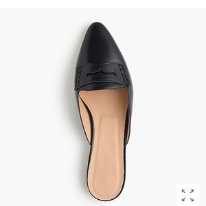 Jcrew leather loafter slides